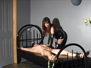 Mistress rewards bound slave