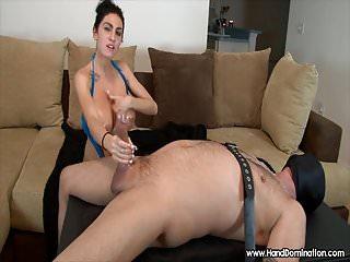 big tits femdom handjob