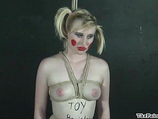 Bizarre lesbian bondage and blonde fetish model Satine Spark