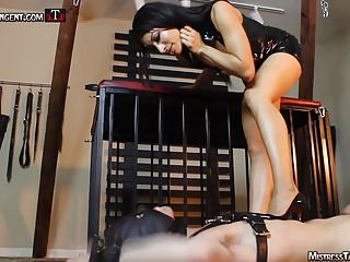 Femdom spitting male humiliation by Mistress Tangent