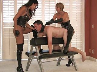 2 hot blond mistresses strapon domina Briana