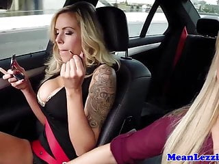 Busty lesbian Nina Elle fucked by Cameron Dee
