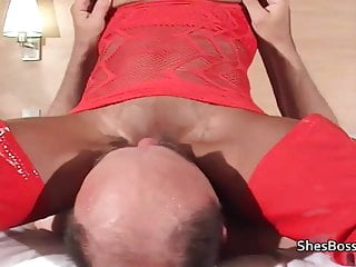 Ebony domme with old white man