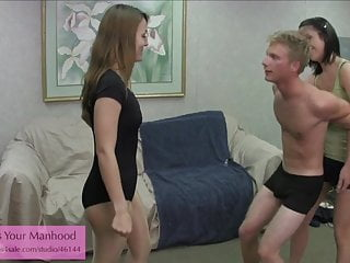 evil NOT siblings 3 ballbusting pantyhose castration handjob