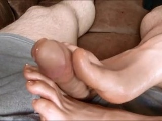 Amazing slow teasing footjob