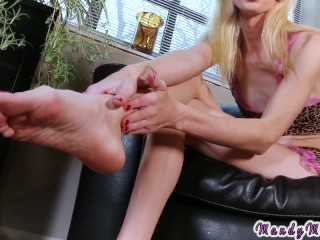 Trans foot fetish joi