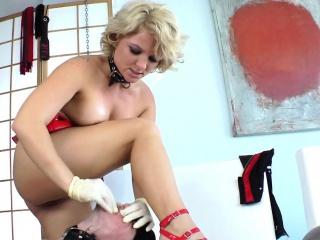 Smalltitted dominatrix disciplines her sub
