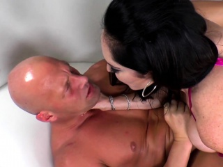 Cockriding femdom pegging and fingering sub