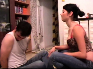 Young Mistress like to face slapping older guys