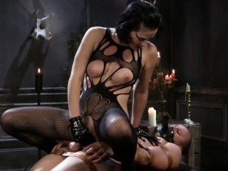 Horny Mistress Spanking Her Slave