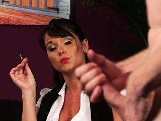 British voyeur MILF dictates wanking session
