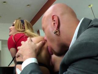 Aj Applegate gives her man a rimjob