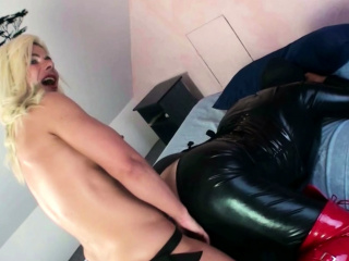 German Domina Femdom Anal Strapon Fuck for two User Guys