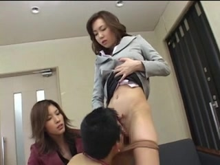 Japanese office lady shares her slave