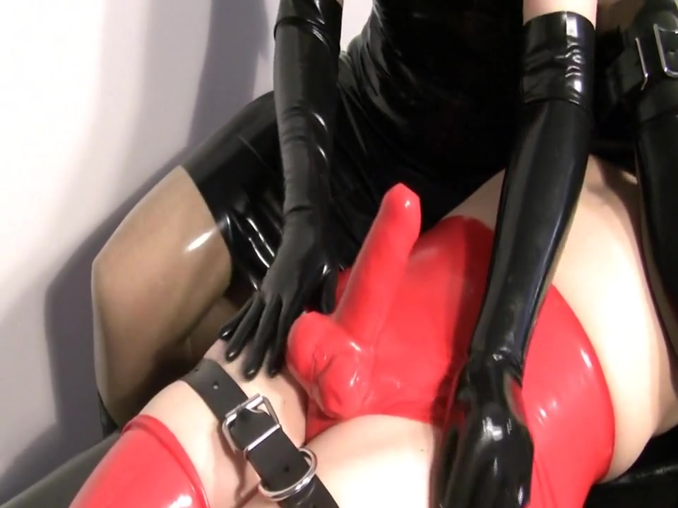 Latex blowjob