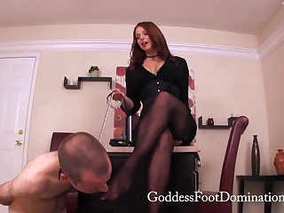 Female domination chastity tease humiliation feet licking