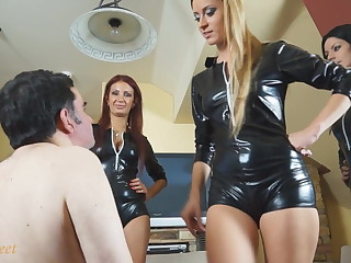Female domination faces slapping humiliation
