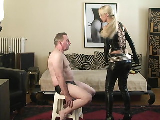 Female domination face slapping