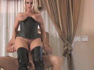 Female domination cum eating humiliation