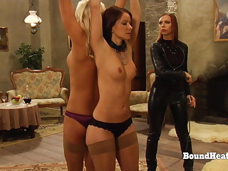 Young Hot Lesbian Girls Gets Their Butts Whipped By Horny Mistress