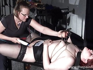 Extreme lesbian bdsm and hardcore lezdom tit tortures of bbw