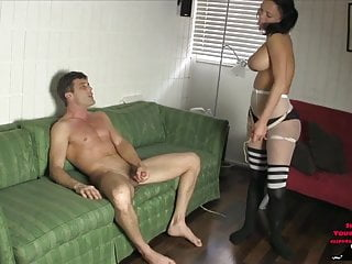 Veronica Gives the Sweet Dick 2 PEGGING HANDJOB CUM EATING
