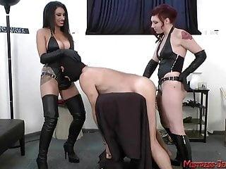 So many beautiful femdom Mistresses tormenting male slaves
