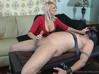 dominant MILF gives femdom handjob